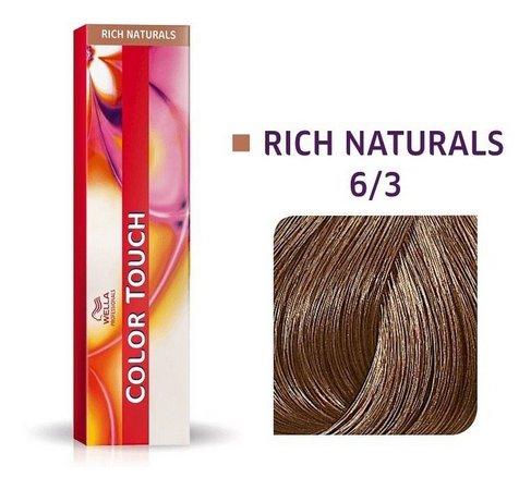 Tonalizante Wella Color Touch Louro Escuro Dourado 6/3 - 60 G