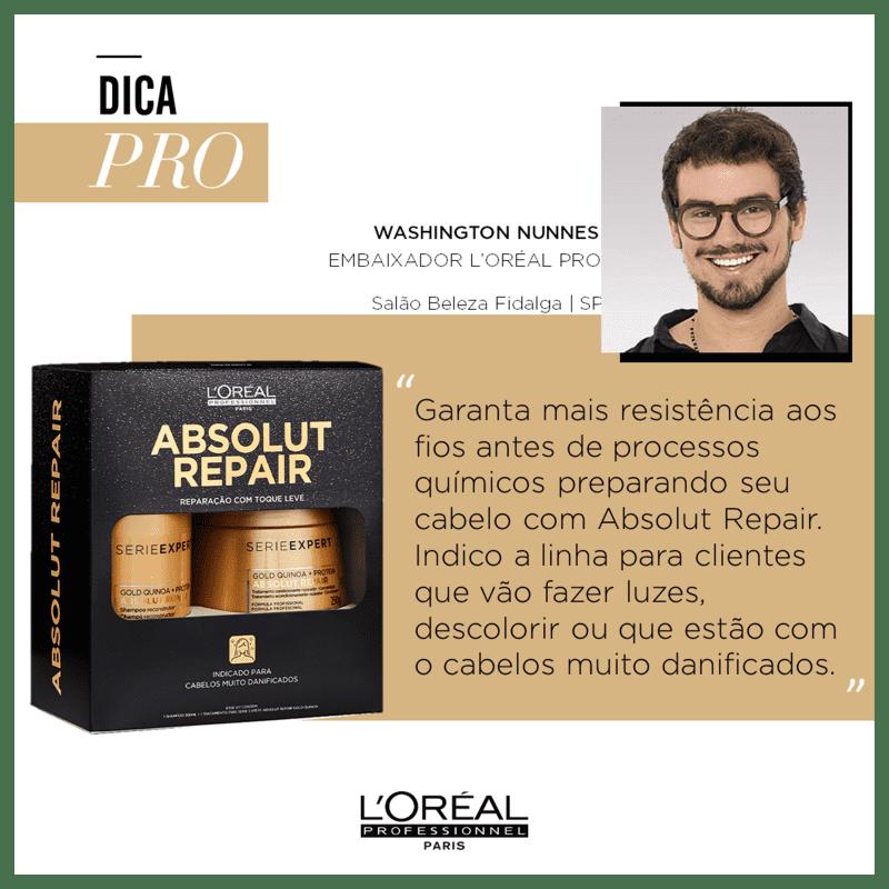 Kit L'Oréal Professionnel Absolut Repair Gold Quinoa + Protein Box (2 Produtos)