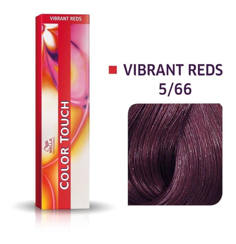 Tonalizante Wella Color Touch Castanho Claro Violeta Intenso 5/66 - 60 G