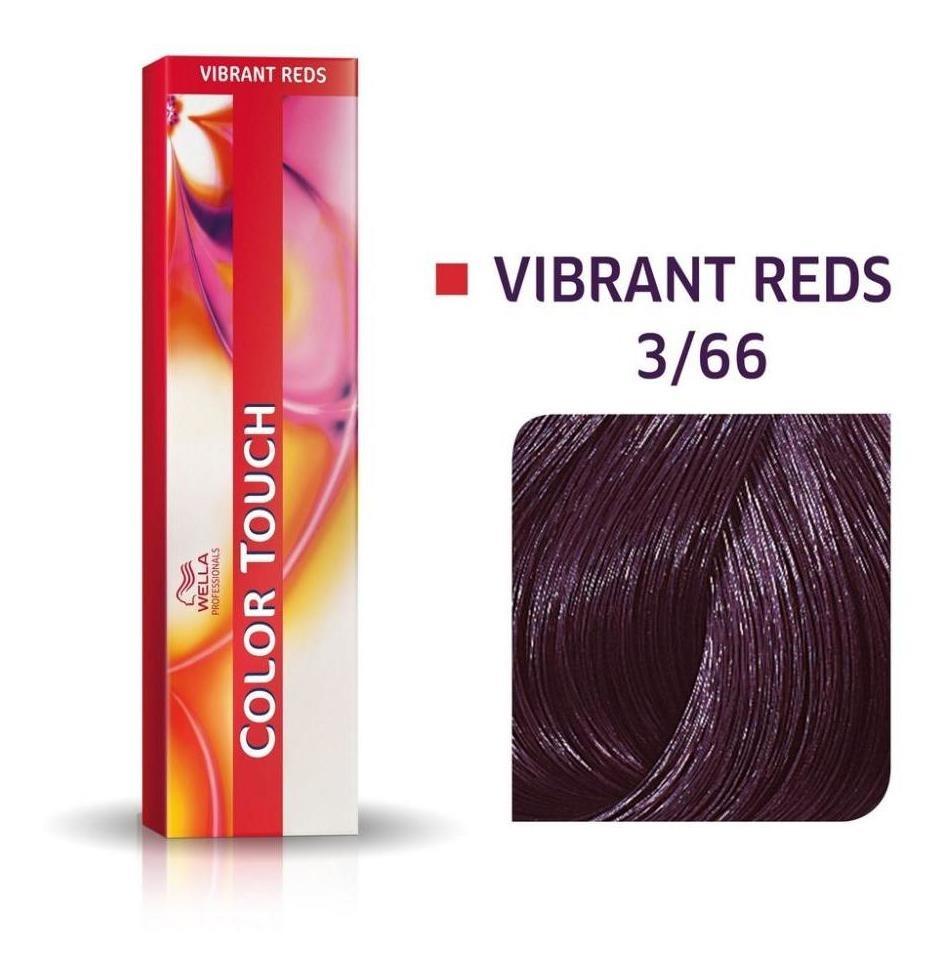 Tonalizante Wella Color Touch Castanho Escuro Violeta Intenso 3/66 - 60 G
