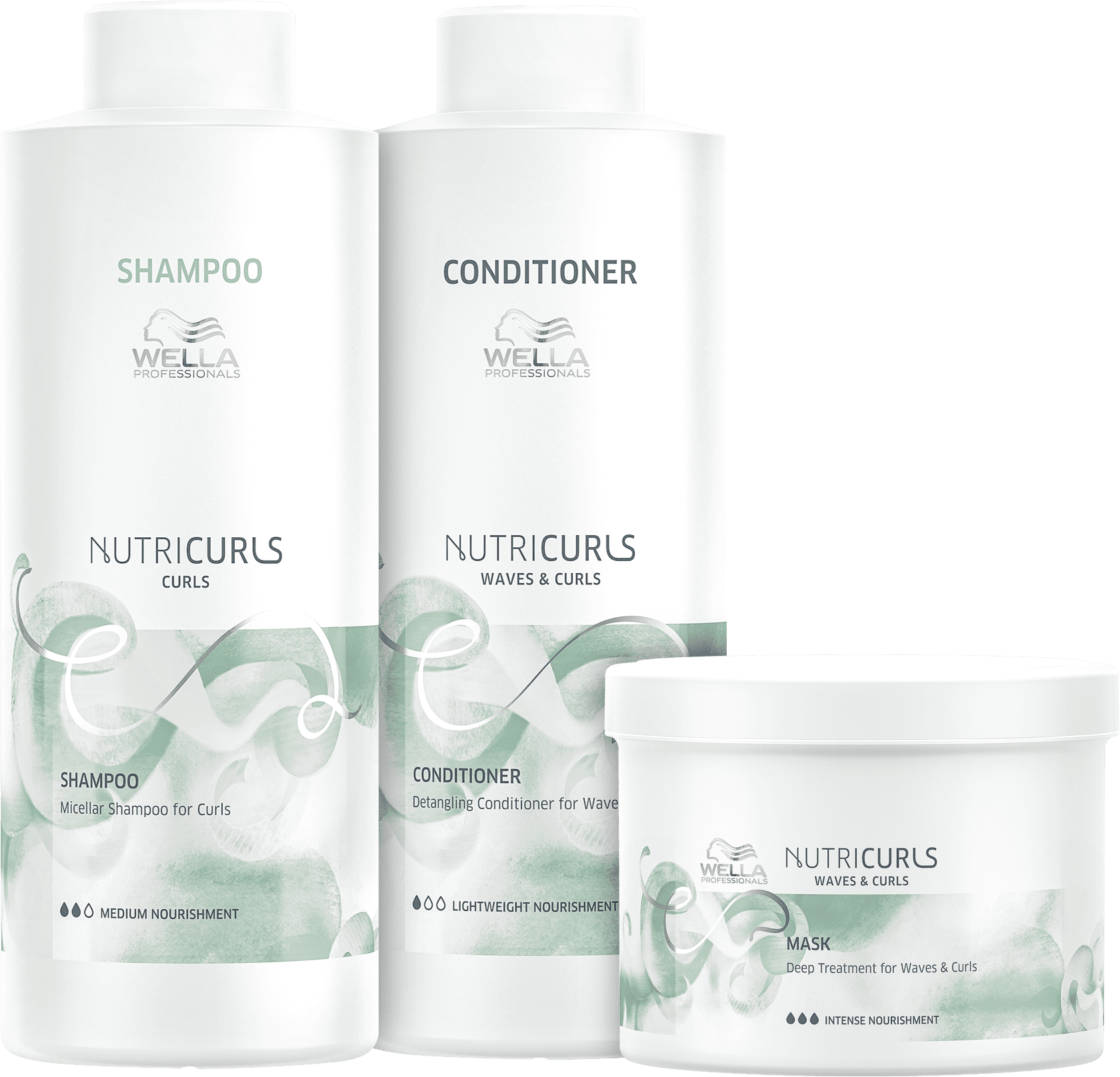 Kit Wella Professionals Nutricurls Trio