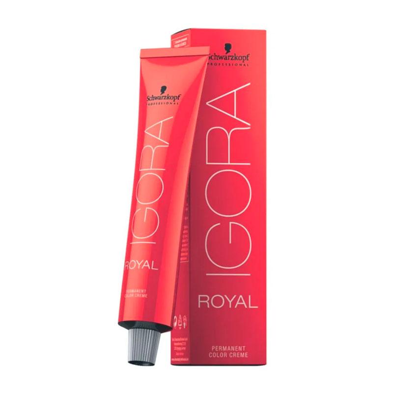 Coloração Igora Royal 4-13 Castanho Médio Cinza Mate 60ml Schwarzkopf