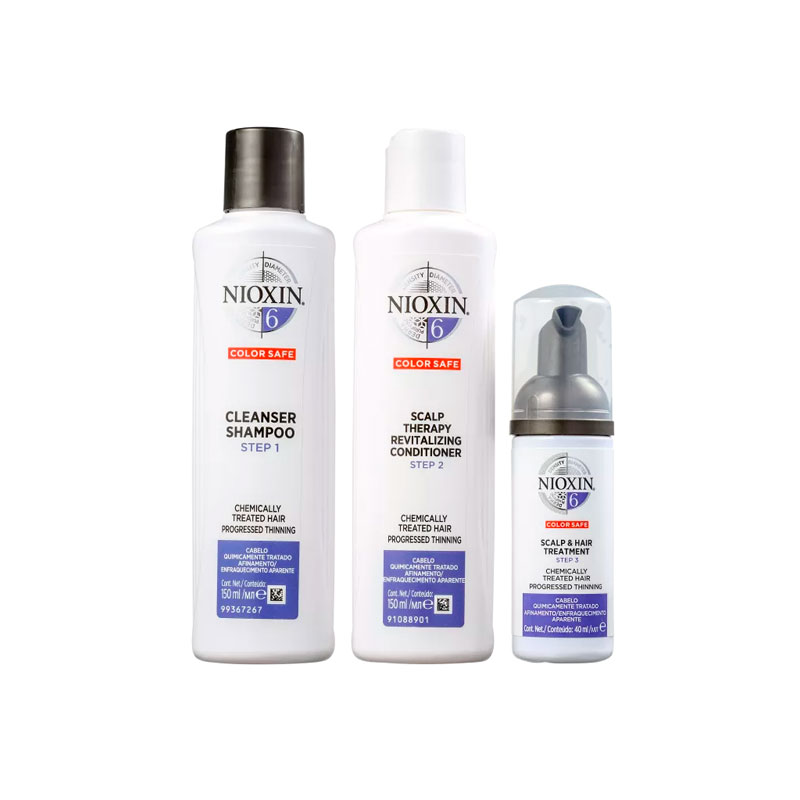 Kit Nioxin Sistema 6 (Shampoo 300 ml+Condicionador 300 ml+Tratamento 100 ml)