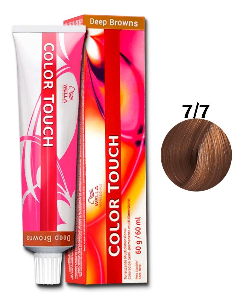 Tonalizante Wella Color Touch louro Médio Marrom 7/7 - 60 G