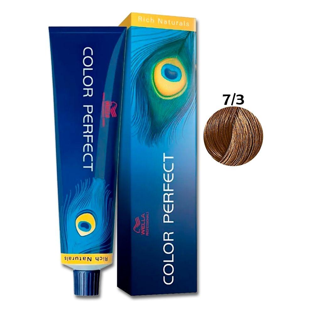 Coloração Wella Louro Médio Dourado 7/3 - 60 G