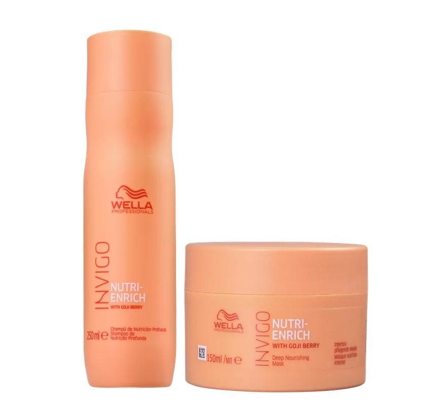 Kit Wella Professionals Invigo Nutri-Enrich - Shampoo 250mL + Máscara 150 mL