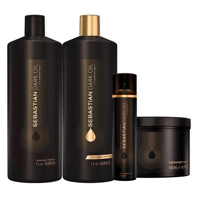 Kit Sebastian Professional Dark Oil Salon Premium (4 Produtos)