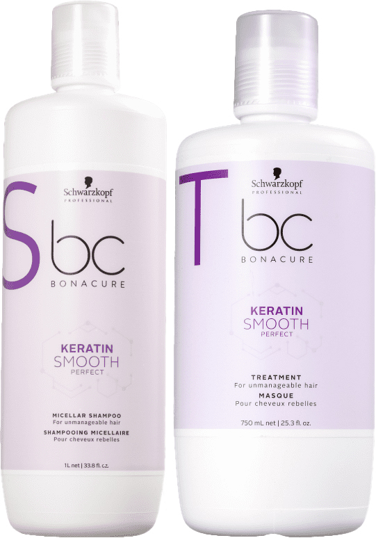 Kit Schwarzkopf Professional BC Keratin Smooth Perfect Salon Duo(2 produtos)