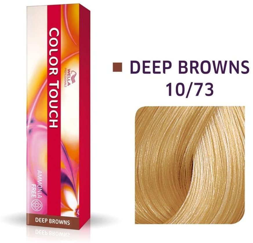 Tonalizante Wella Color Touch Louro Claríssimo Marrom Dourado 10/73 - 60 G