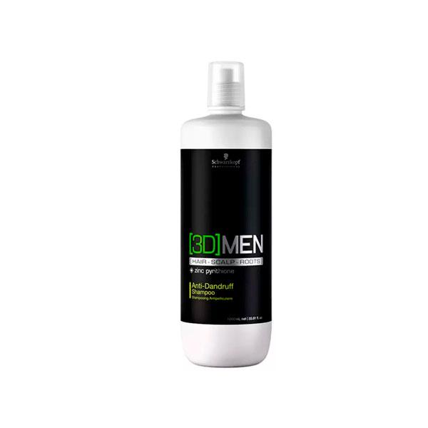 Shampoo Bonacure  3D Men Anti-Caspa 1 Litro Schwarzkopf